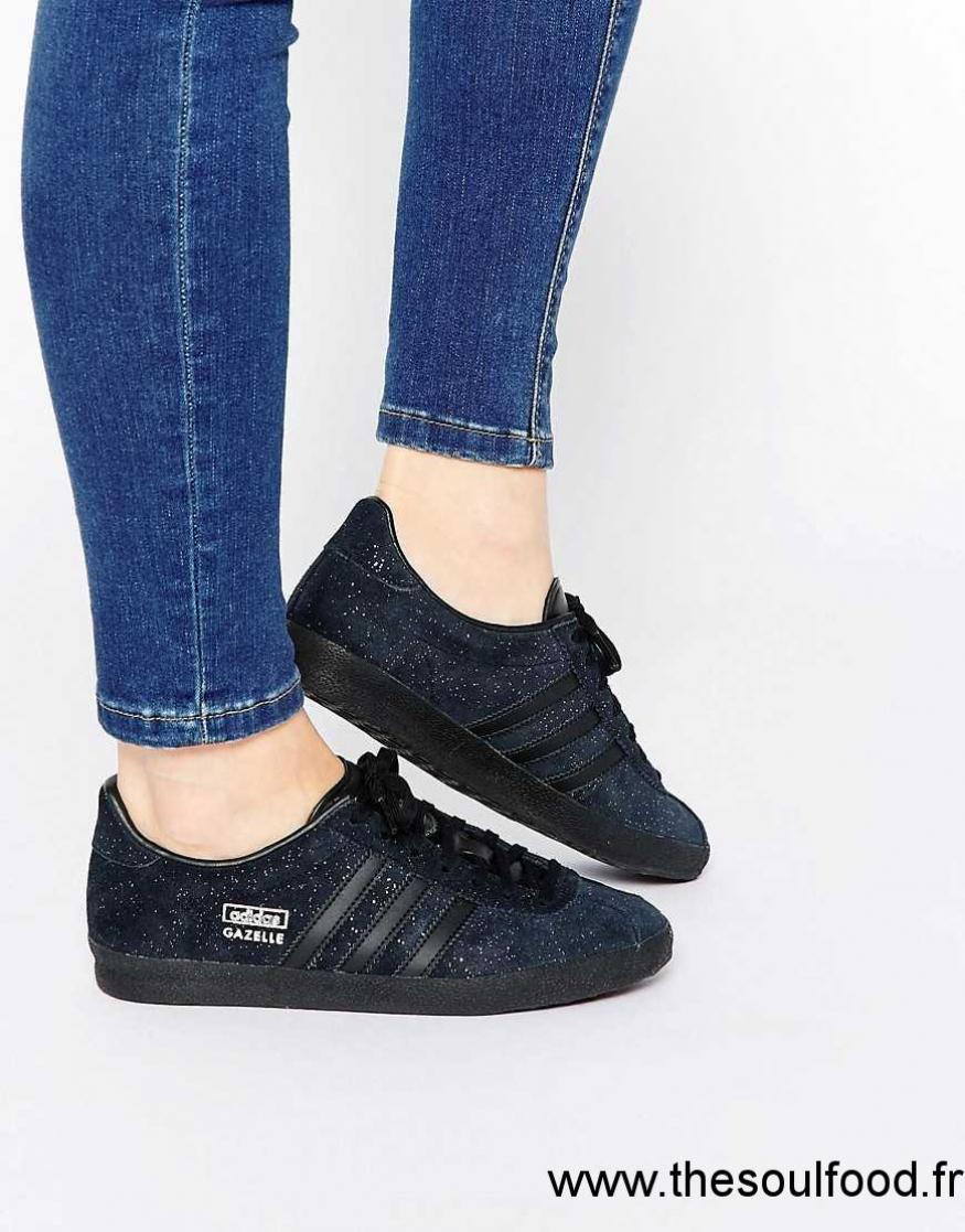 Gazelle Adidas En Noir Originals Og Baskets Pailleté Daim IgY6ybmf7v