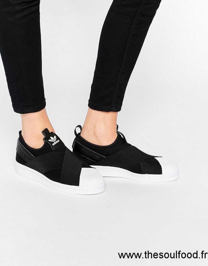 détaillant en ligne 6d1be 126e7 Superstar Femme Adidas Lacets Baskets Sans Originals Noir ...
