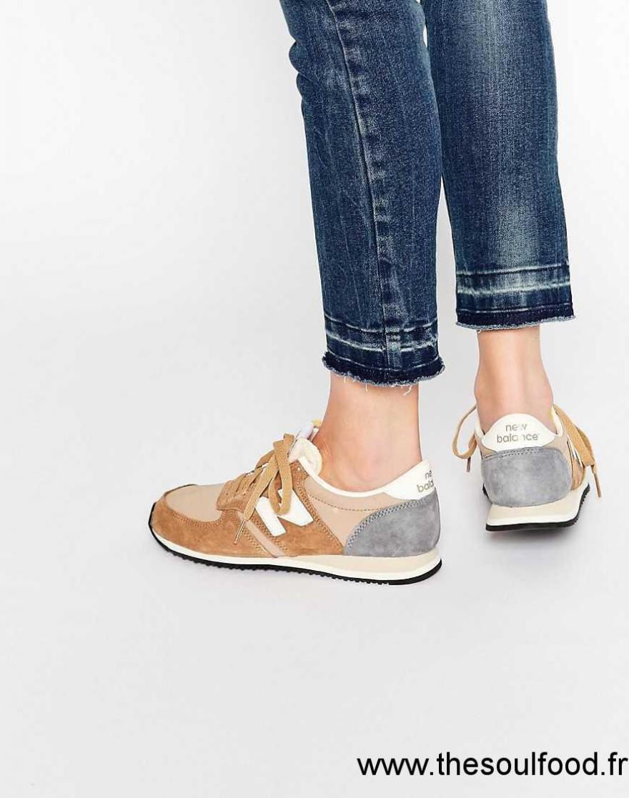 Balance Baskets Chaussures Daim New 420 En Beige Femme HAx4dR