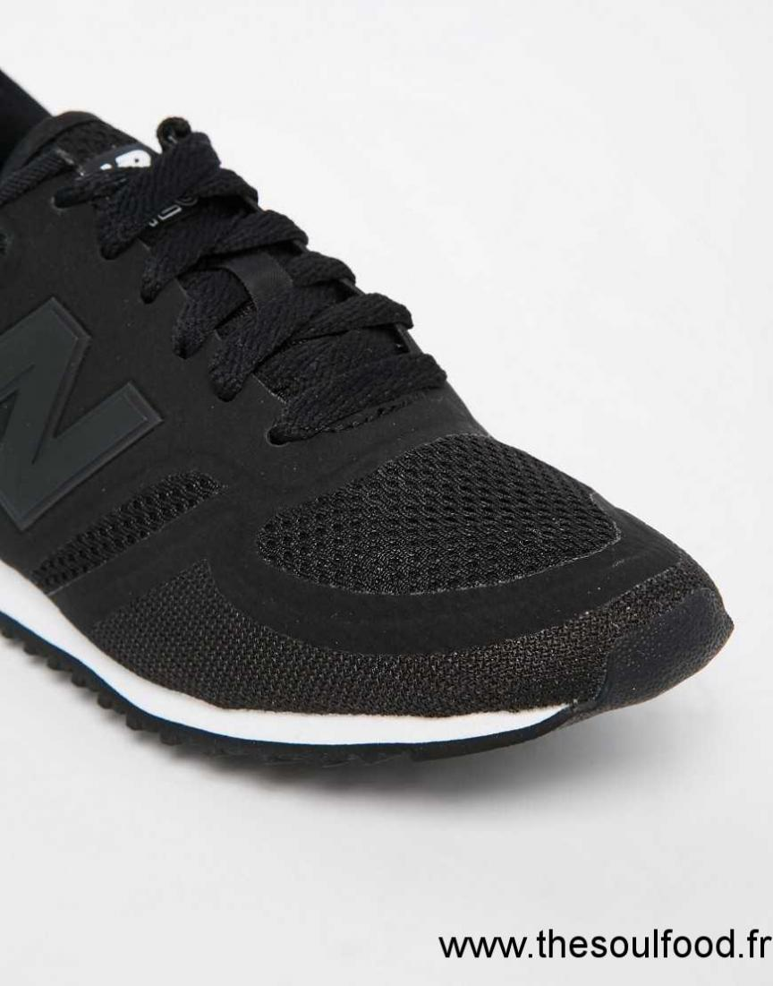 new balance 420 baskets en tulle noir et blanc femme noir blanc chaussures new balance. Black Bedroom Furniture Sets. Home Design Ideas