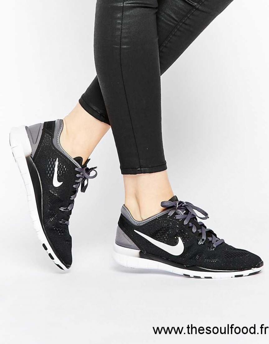 check-out ea82c 9e09e Nike - Free 5.0 Tr Fit 5 - Baskets - Noir Femme Noir ...