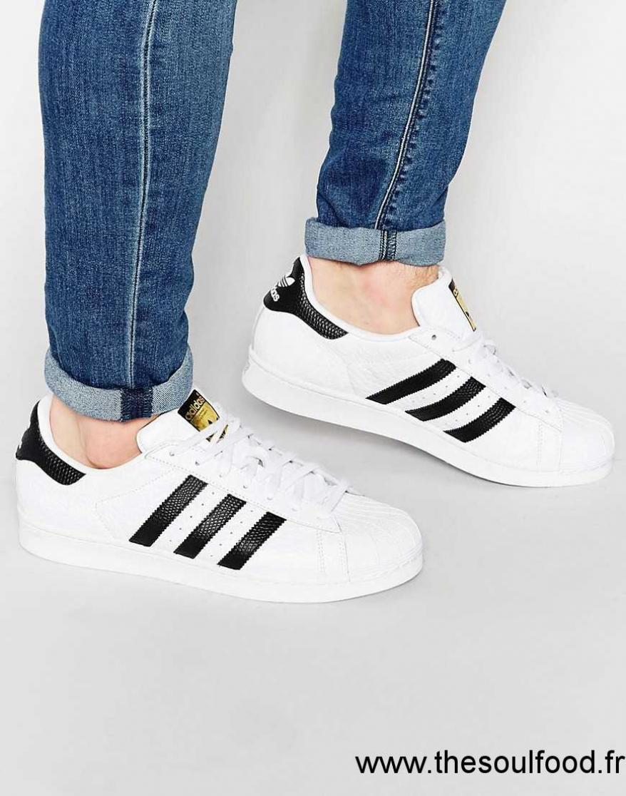 Adidas Originals - Superstar S75157 - Baskets Motif Animal Homme Blanc Chaussures | Adidas Originals France VG5600144
