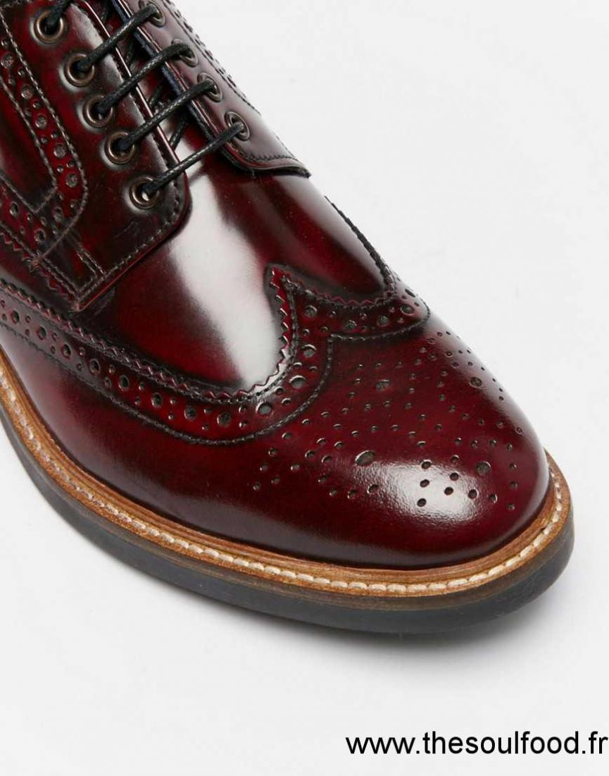 base london woburn chaussures richelieu en cuir ultra brillant homme rouge chaussures base. Black Bedroom Furniture Sets. Home Design Ideas