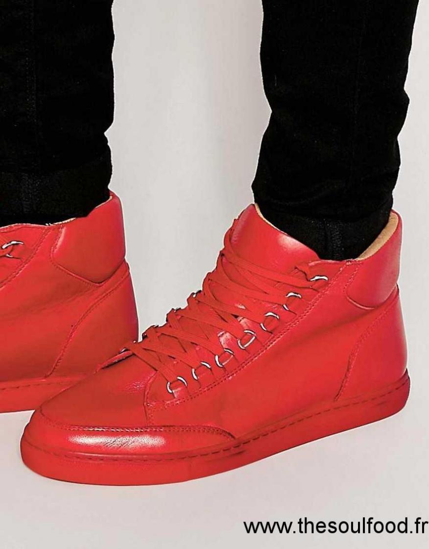kurt geiger brickers baskets montantes homme rouge chaussures kg by kurt geiger france. Black Bedroom Furniture Sets. Home Design Ideas