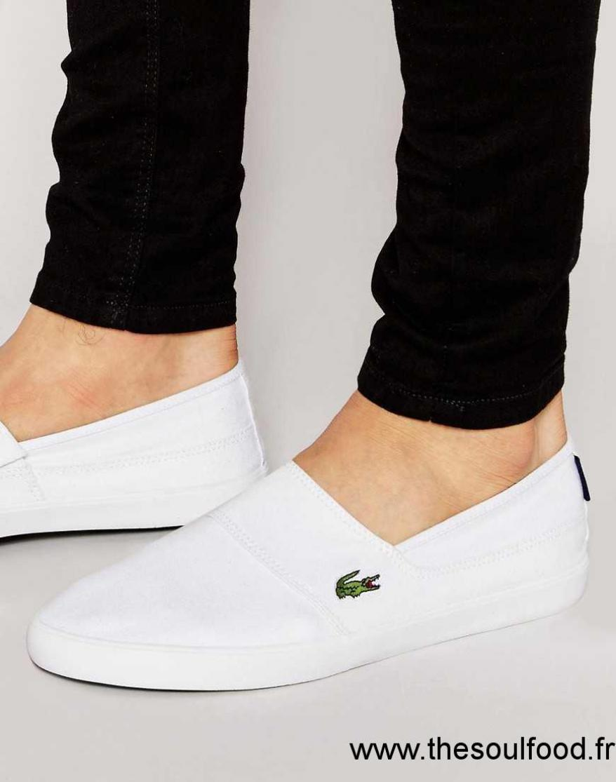 À Enfiler Blanc Marice Tennis Chaussures Lacoste Homme 2YEH9WDI