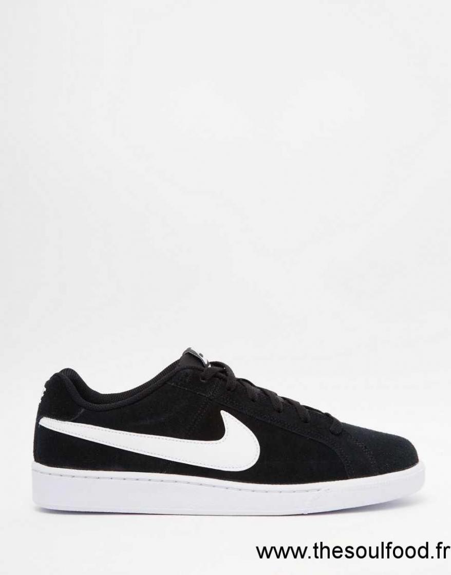nike court royale baskets en daim 819802 011 homme noir chaussures nike france aj12003352. Black Bedroom Furniture Sets. Home Design Ideas