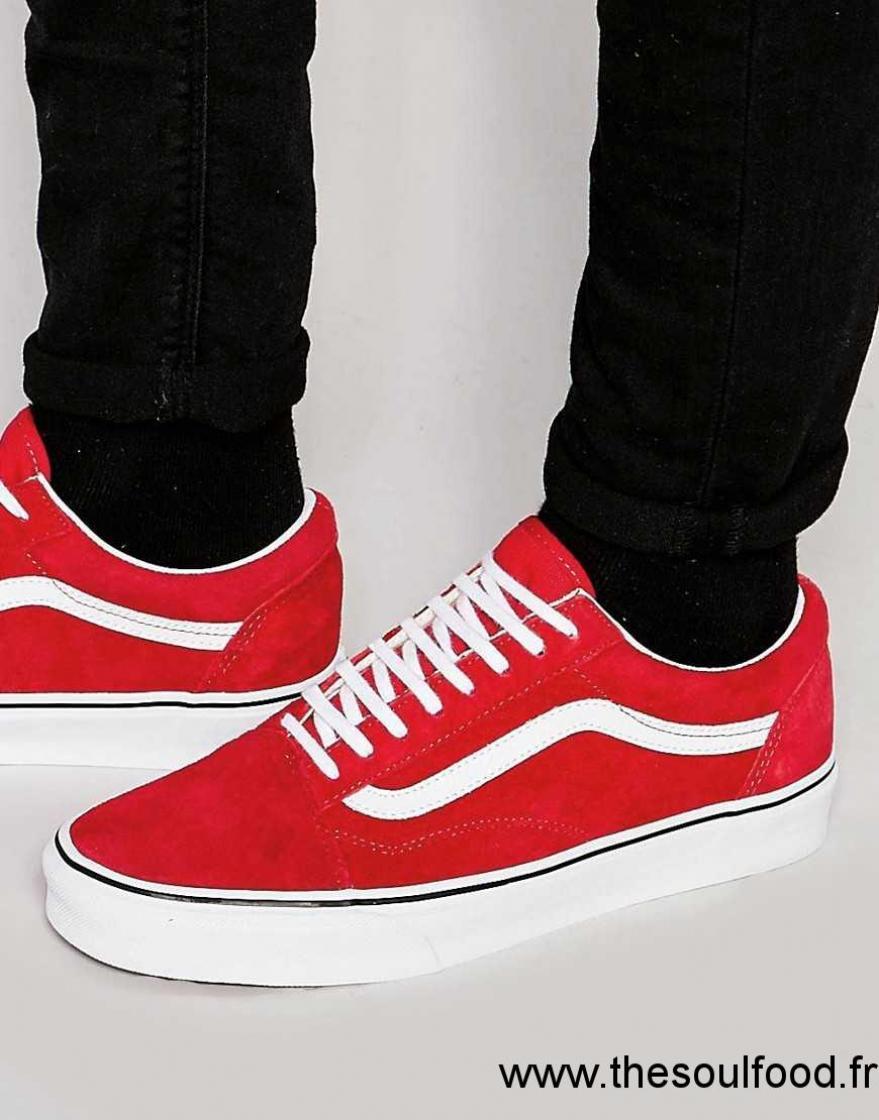 vans chaussure homme rouge et blanc